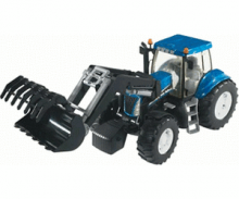 Bruder 3021 New Holland T8040 frontrakodóval